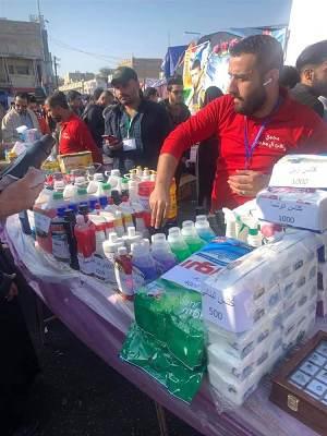 بالصور.. بازار لدعم المنتج الوطني في الناصرية وأرباحه للمتظاهرين