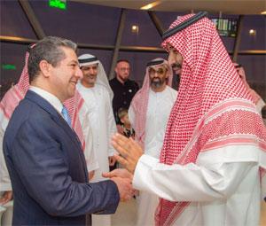 مسرور بارزاني يلتقي محمد بن سلمان وعدداً من زعماء الإمارات