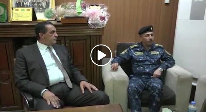 بالفيديو.. قائد الشرطة الاتحادية يزور مبنى محافظة كركوك ويقدم التهنئة للمحافظ الجديد