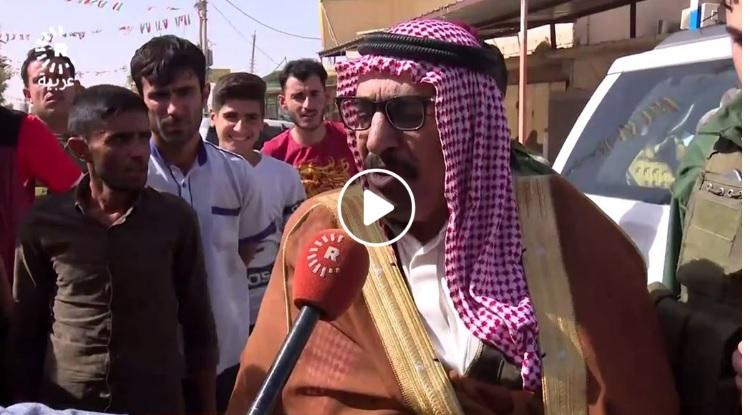 بالفيديو.. شيخ عشيرة عربية مهددا: الحشد الشعبي لن يدخل زمار ولا ربيعة!!